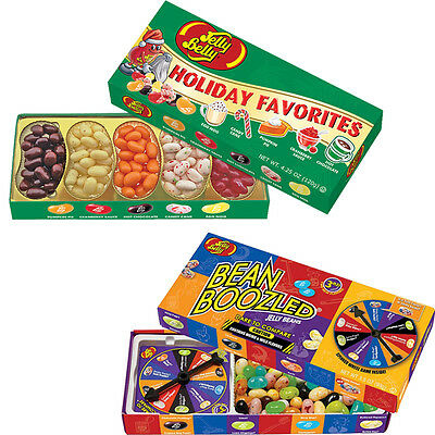 NEW (Set) Jelly Belly Holiday Favorite Flavors & Boozled Wacky Nasty Jellybeans
