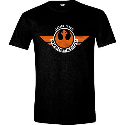 STAR WARS VII Men's The Force Awakens Join the Resistance T-Shirt, Large, Black