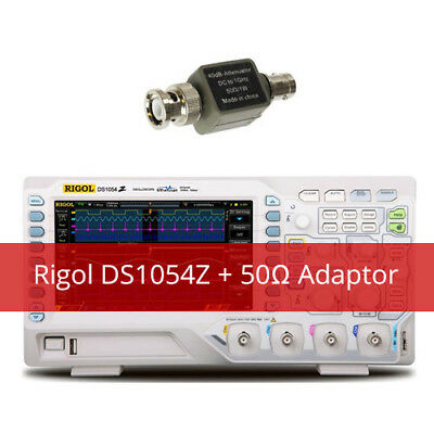 Rigol DS1054Z Kit2 Digital Oscilloscope with Extra 50 ohm impedance adapter