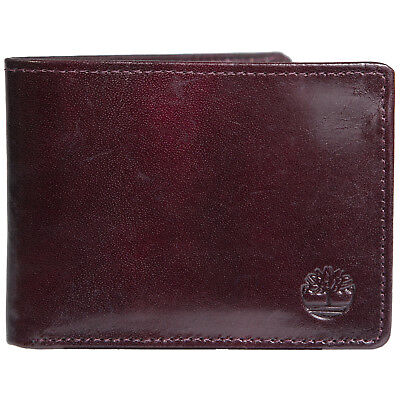 Timberland Men's Genuine Leather Wallet Flip Up ID Card Case Passcase Bifold