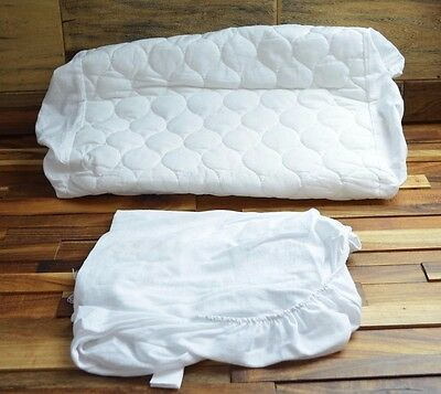 American Baby Company Quilted Bassinet Cover & Sheet, White