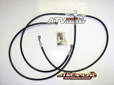 STREAMLINE FRONT BRAKE LINES LINE KIT ATV BLUE HONDA TRX300EX 1993-2012