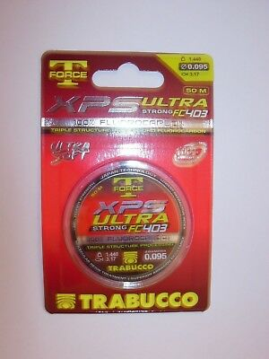 TRABUCCO T FORCE XPS FLUOROCARBON FISHING LINE 50m VARIOUS BREAKING STRAINS