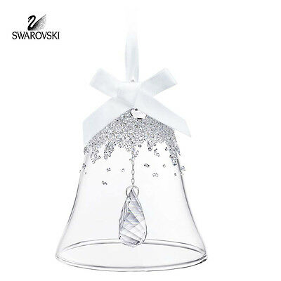Swarovski Crystal Christmas Ornament CHRISTMAS BELL 2015 #5136362 New
