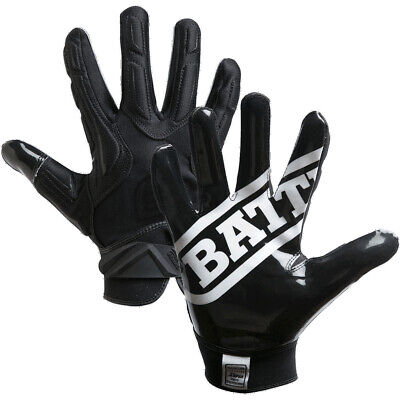Battle Sports Science Receivers Hybrid Ultra-Stick Football Gloves - Black