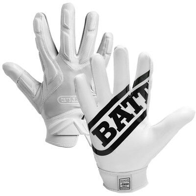 Battle Sports Science Receivers Hybrid Ultra-Stick Football Gloves - White