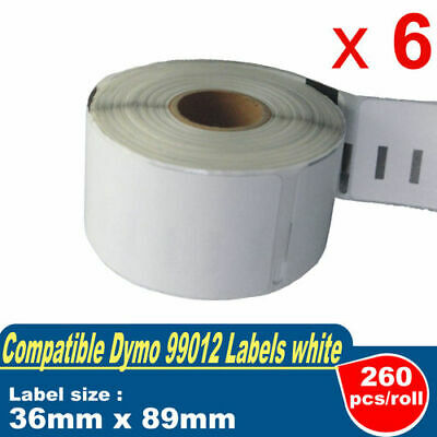 6 ROLLS 99012 DYMO Compatible ADDRESS LABELS 89mm x 36mm SEIKO LABEL 450