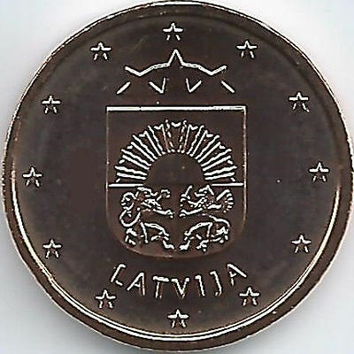 Latvia 1 Cent Currency coin (2014 - 2016), uncirculated/brilliant uncirculated