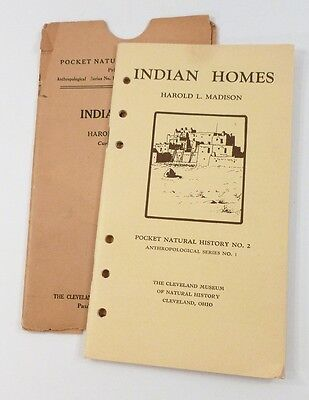 HOMES Native American INDIAN 1925 Natural History booklet MADISON Igloos Teepee