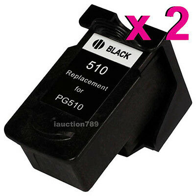 2x PG-510 PG510 ink cartridges for Canon MP230,240,280,282,MP492,495 printers