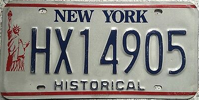 GENUINE New York Liberty Historical USA License Licence Number Plate HX14905