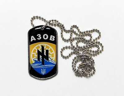 Ukrainian Army Dog tag Сhain Battaloin Azov National Guard of Ukraine