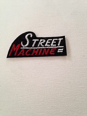 Street Machine Embroidered Patch With Adhesive Iron On Back
