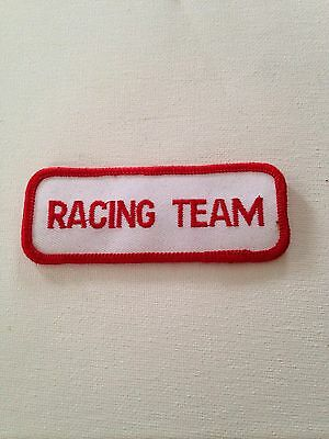 Racing Team Embroidered Patch With Adhesive Iron On Back