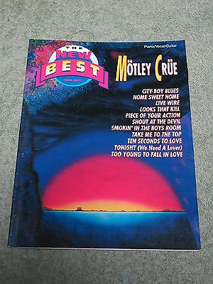 MOTLEY CRUE The new best of ~ Piano Vocal Guitar ~ SONG BOOK!