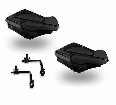 Powermadd Sentinel Handguards Guards Tri Mount Black / Black Utility ATV Yamaha
