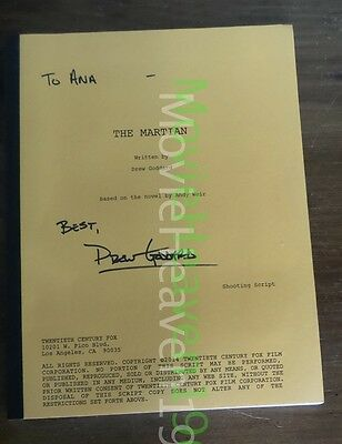 The Martian Screenplay Script Fyc Hand Signed Autograph Drew Goddard 2