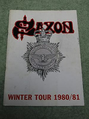 SAXON Winter tour 1980/81 TOUR PROGRAMME!