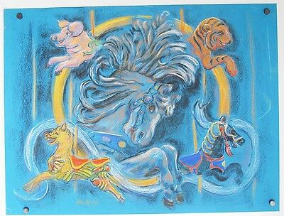 Circus Carousal Horse ALICE DeCAPRIO Sarasota, Fl Listed Painter & Illustrator