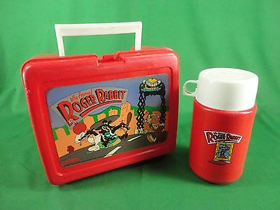 1987 Who Framed Roger Rabbit Plastic Lunchbox & Thermos