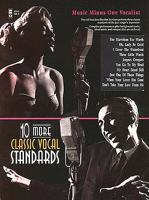 Ten More Classic Vocal Standards Jazz Solo Sheet Music Minus One Book CD NEW