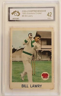1965 Scanlens Bill Lawry Card Graded Excellent