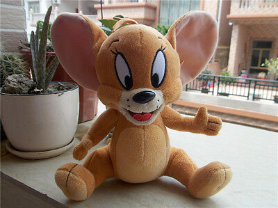 """Official Tom and Jerry Cartoon 8"""" Jerry Mouse Plush Doll Stuffed Toy Cute Anime"""
