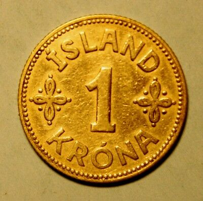 Iceland 1 Krona 1940-L Extremely Fine Coin