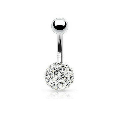 Piercing Nombril Crystal Strass Zircon Une Boule Strass