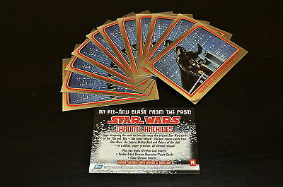 1999 Topps Chrome Archives Star Wars Promo #P1 Lot of 12 ~Mint~ Darth Vader