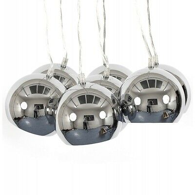 "Paris Prix - Lampe Suspension ""Grappe"" Chrome"
