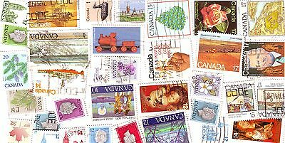CANADA USED STAMPS OFF-PAPER GOOD STARTER KIT lot of 100