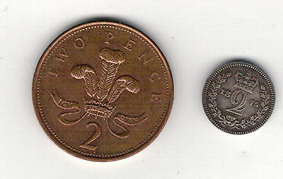 Victoria 1875. Maundy  Twopence  Good Grade.see Pictures
