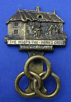 Brass Door Knocker From Uk The Hoops Inn Horns Cross North Devon