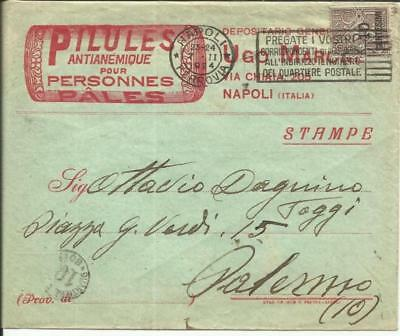Italy Sc#148(single frank) Illustrated MEDICAL Advertising,front & back, Naples