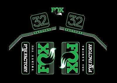 2016 Fox 32 Custom Color Bike Decal Kit You Choose Colors