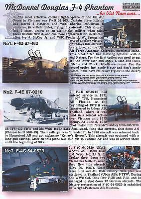 Print Scale Decals 1/48 MCDONNELL DOUGLAS F-4 PHANTOM II in VIETNAM
