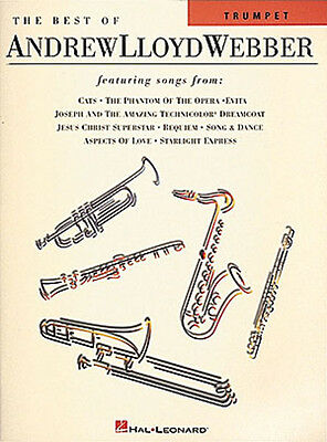 Best of Andrew Lloyd Webber for Trumpet Solo Sheet Music Broadway Songs Book NEW