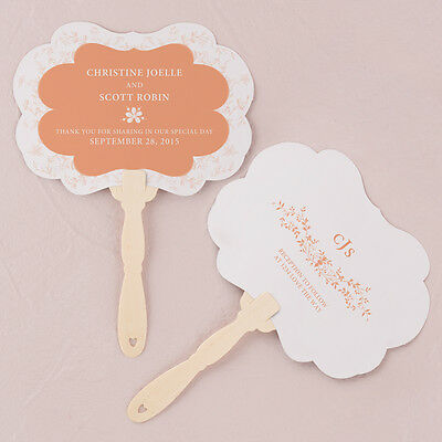 24 - Forget Me Not Personalized Monogram Hand Fan - 9 Colors - Wedding Favor