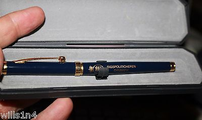 Hauser Rollerball Pen enscribed from Danish National Police Commissioner