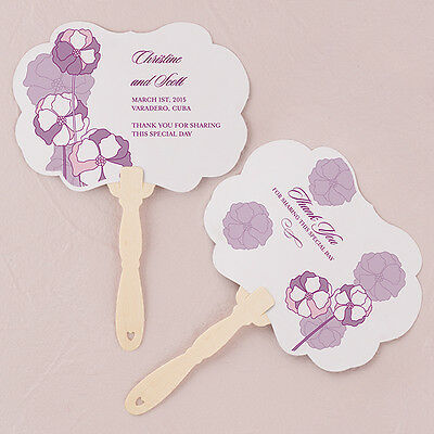 24 - Pinwheel Poppy  Personalized Hand Fan - 6 Colors - Wedding Party Favor
