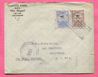 1916 Guatemala Multi Franked Cover To Usa