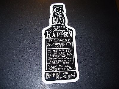 G-EAZY Bottle Sticker THESE THINGS HAPPEN Logo New 5""