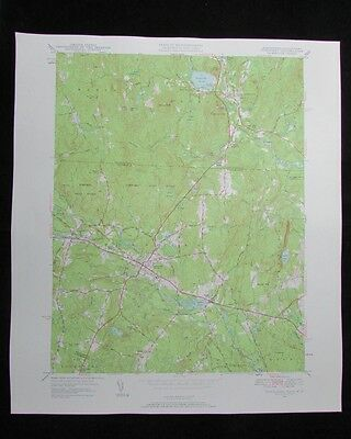 Townsend Massachusetts New Hampshire vintage 1958 old USGS Topo chart