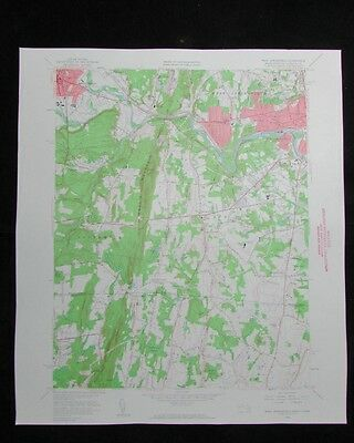 West Springfield Massachusetts Connecticut vintage 1960 old USGS Topo chart