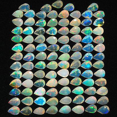 43.04 Cts/101 Pcs Certified Natural Ethiopian Welo Facetted Opals Vibrant Colors
