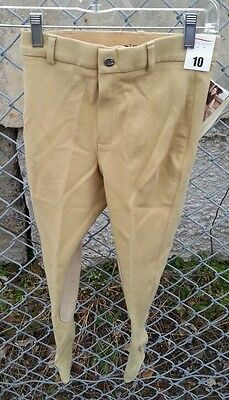 NWT SIGMA COUNTRY $54 Girls Cotton Stretch Riding Show Breeches Light Tan