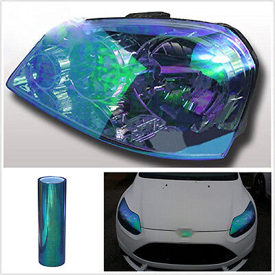 200*30cm DIY Chameleon Dark Blue Car SUV Headlight Vinyl Tint Film Sticker Sheet