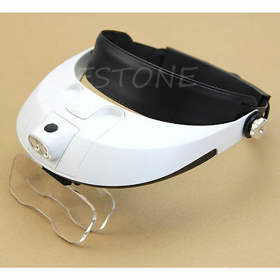Magnifying Glass with LED Light Illuminated Head Dental Surgical Loupe Headlamp