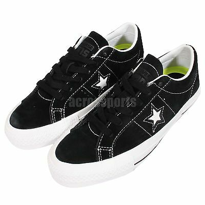 Converse One Star Pro Black Suede White Lunarlon Skateboarding Shoes 149908C